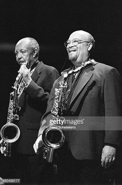 Harold Land and Red Holloway on February 4th 1999 at the BIM huis in Amsterdam, Netherlands.