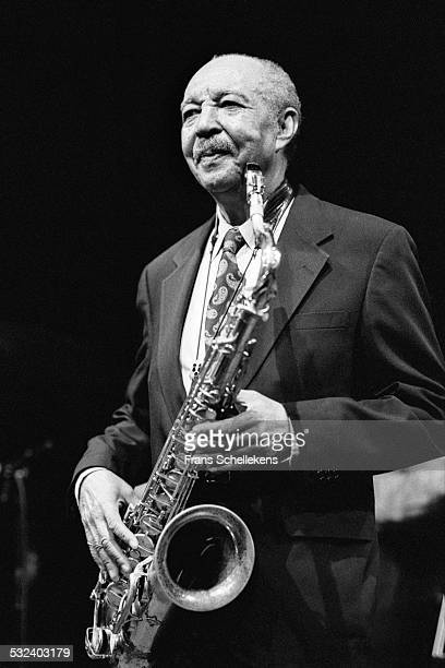Harold Land, tenor saxophone, performs on February 4th 1999 at the BIM huis in Amsterdam, Netherlands.