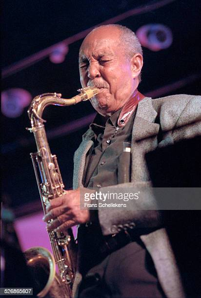 Harold Land, tenor saxophone, performs on July 16th 2000 at the North Sea Jazz Festival in the Hague, Netherlands.