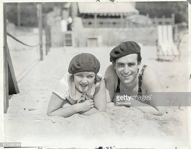 Harold Lloyd legendary comedian of the silent screen with his wife actress Mildred Davis