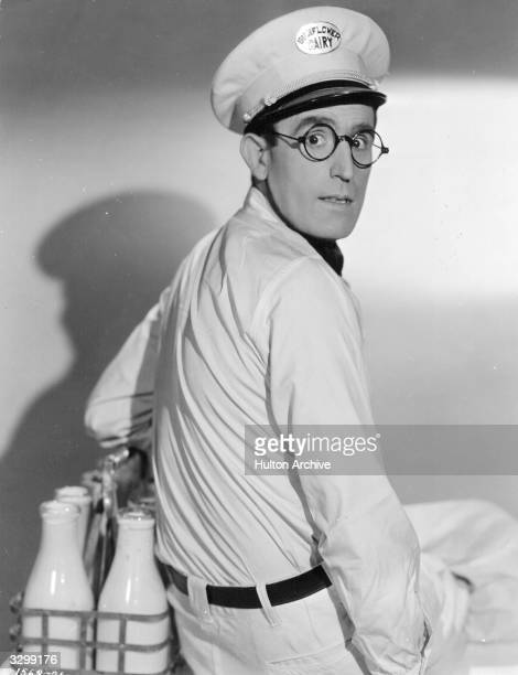Harold Lloyd the American comedian and producer in his role as the milkman in a scene from 'The Milky Way' about a milkman who becomes a prizefighter...