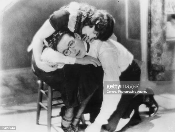 Harold Lloyd the silent comedian stars with Jobyna Ralston in the film 'The Freshman' an excellent example of this comic actor's work The film was...