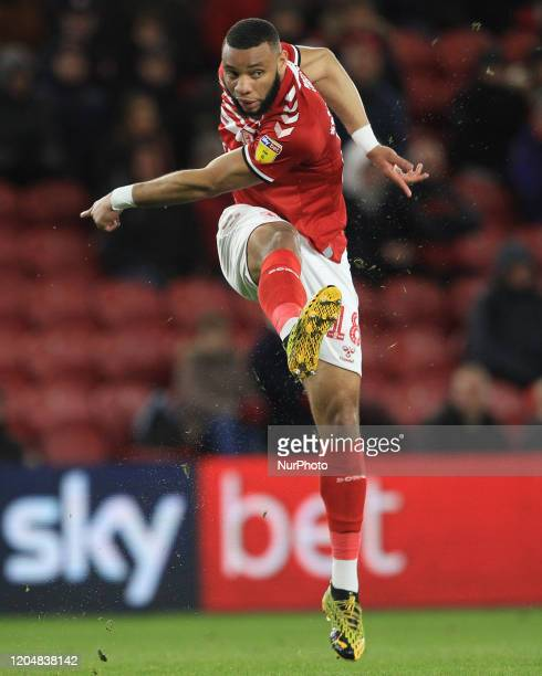 Harold Maoukoudi of Middlesbrough during the Sky Bet Championship match between Middlesbrough and Nottingham Forest at the Riverside Stadium,...