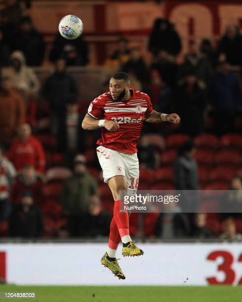 Harold Maoukoudi of Middlesbrough during the Sky Bet Championship match between Middlesbrough and Nottingham Forest at the Riverside Stadium...