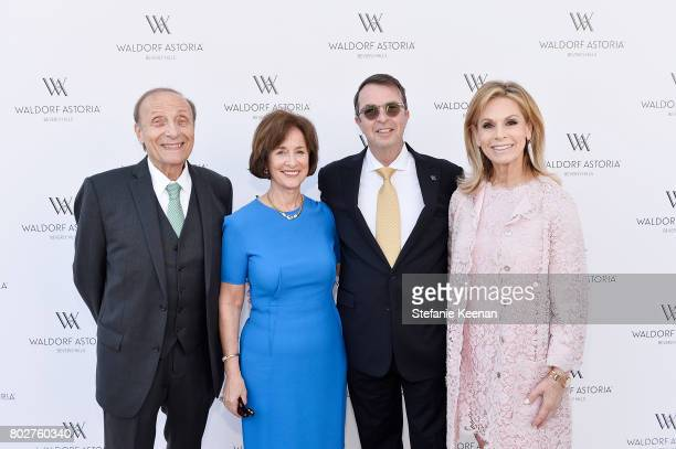 Harold Markowitz Vera Markowitz Beny Alagem and Adele Alagem attend Waldorf Astoria Beverly Hills Grand Opening Celebration on June 28 2017 in...