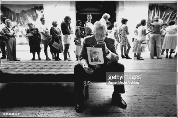 Harold McGregor waiting to see gold of The Pharaohs at the art gallery of NSW Mr McGregor down from Burradoo couldn't believe the lines for the...