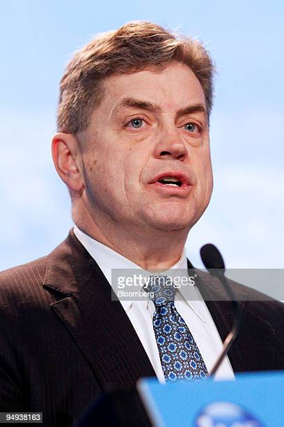 Harold N Kvisle president and chief executive officer of TransCanada Corp speaks during the Cambridge Energy Research Associates CERAWeek 2009...