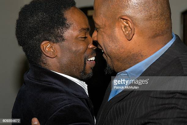 Harold Perrineau and Forest Whitaker attend HBO's Annual PREGOLDEN GLOBES Reception at Chateau Marmont on January 13 2007 in Los Angeles CA