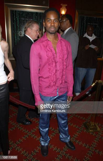 Harold Perrineau during Matrix Reloaded New York Premiere Inside Arrivals at Ziegfeld Theater in New York City New York United States