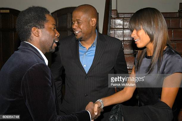 Harold Perrineau, Forest Whitaker and Keisha Whitaker attend HBO's Annual PRE-GOLDEN GLOBES Reception at Chateau Marmont on January 13, 2007 in Los...