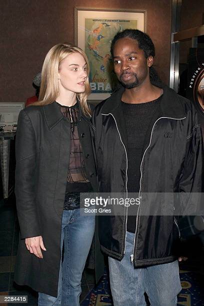 Harold Perrineau with his wife Brittany arrive at the premiere of the new HBO late night series Russell Simmons Presents Def Poetry at the Chelsea...