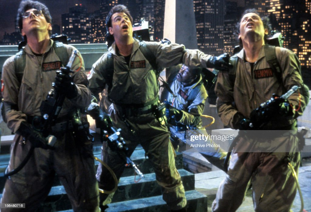 Dan Aykroyd And Bill Murray In 'Ghostbusters' : News Photo