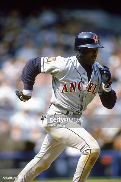 Harold Reynolds of the California Angels runs the bases during a game Harold Reynolds played for the California Angels in the 1994 season