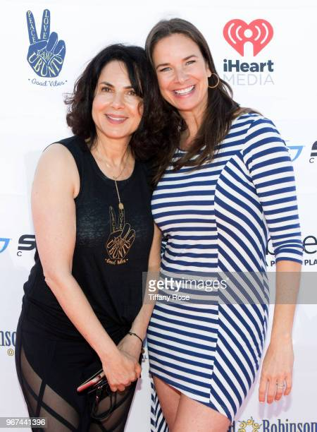 Harold Robinson Foundation CoFounder Joyce Hyser Robinson and Anastasia Foster attend the 8th Annual Pedal On The Pier Fundraiser at Santa Monica...