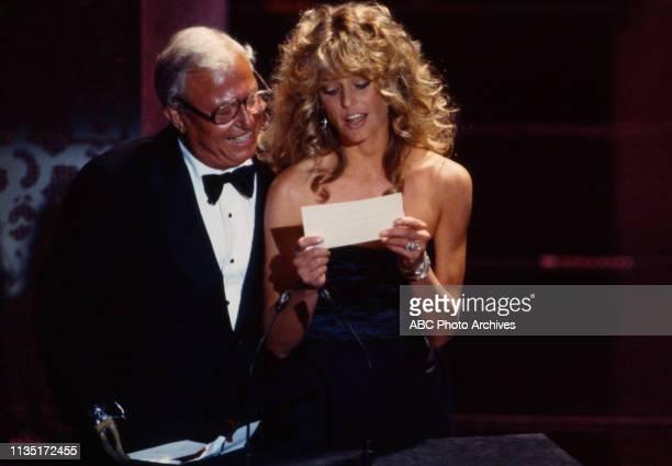 Harold Russell Farrah Fawcett presenting on the 52nd Academy Awards / 1980 Academy Awards Dorothy Chandler Pavilion April 14 1980