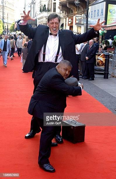 Harold Sakata Richard Keel Attend The 'Stormbreaker' Uk Film Premiere At The Vue Cinema In London'S West End