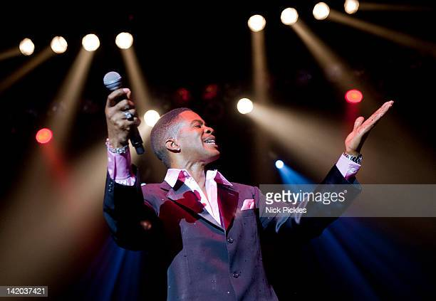 Harold 'Spike' DeLeon of The Four Tops performs at O2 Arena on March 28 2012 in London England