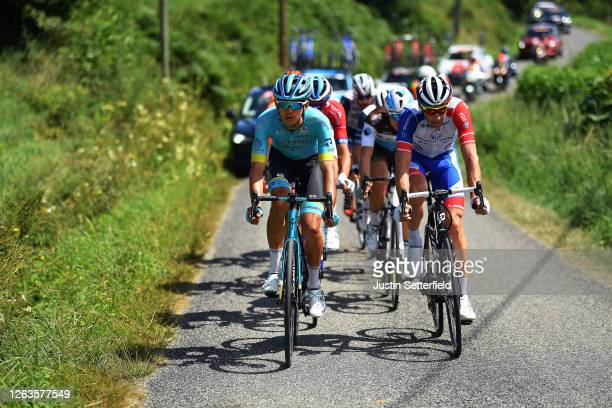 Harold Tejada Canacue of Colombia and Astana Pro Team / Matthieu Ladagnous of France and Team Groupama - FDJ / Benoit Cosnefroy of France and Team...