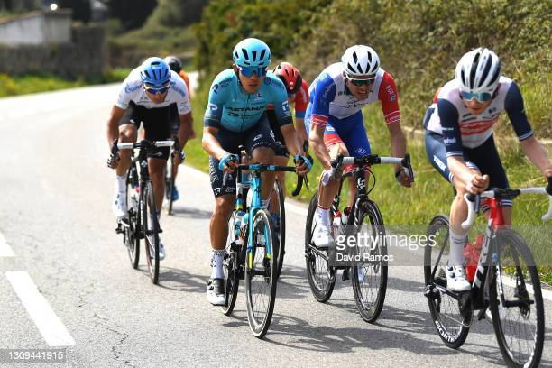Harold Tejada Canacue of Colombia and Team Astana – Premier Tech & Antoine Duchesne of Canada and Team Groupama - FDJ during the 100th Volta Ciclista...