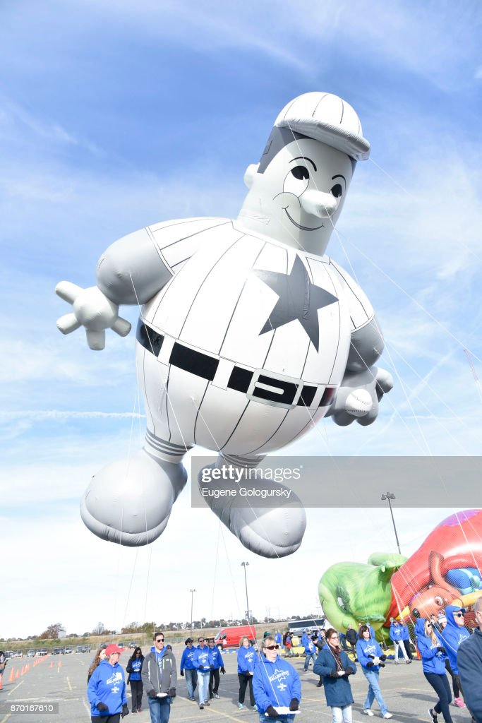 Harold the Baseball Player returns in celebration of the 70th Anniversary of 'Miracle on 34th Street' during Macy's Balloonfest, ahead of the 91st Annual Macy's Thanksgiving Day Parade on November 4, 2017 in East Rutherford City.