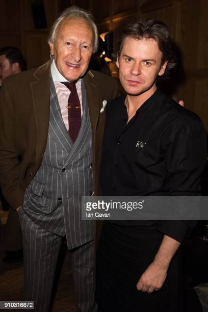Harold Tillman and Christopher Kane attend the Burns Night Gathering hosted by Christopher Kane at the The London EDITION's Punch Room with Copper...