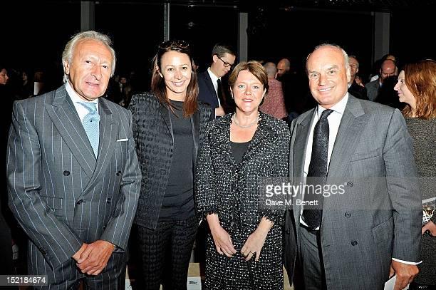 Harold Tillman, Caroline Rush, British Secretary of State for Culture, Media and Sport Maria Miller and Nicholas Coleridge arrive at the Burberry...