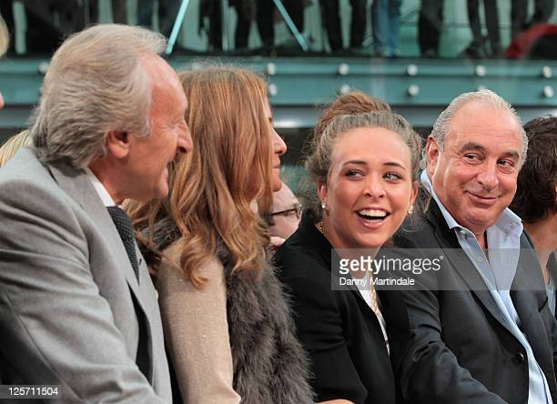 Harold Tillman guest Chloe Green and Sir Philip Green are seen on the front row at the TOPMAN Design show at London Fashion Week Spring/Summer 2012...