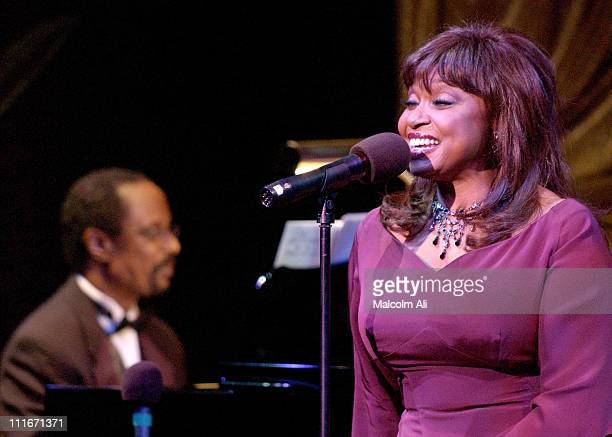 Harold Wheeler and Hattie Winston during Hattie and Harold's on Stage Cabaret at The Alex Theatre in Glendale California United States