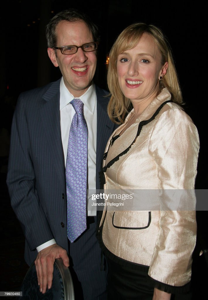 Harold Wolpert, Managing Director of Roundabout Theater, and Cast Member Jenna Russell attends 'Sunday in the Park with George' Broadway Opening Night After Party at The Sheraton Hotel on February 21, 2008 in New York City.