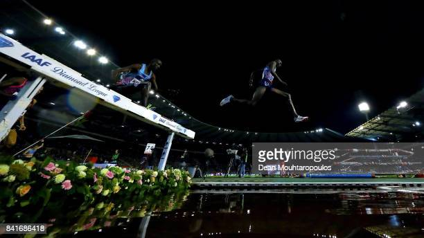 Haron Kiptoo Lagat of Kenya competes in the 3000m Steeplechase Men Final during the AG Memorial Van Damme Brussels as part of the IAAF Diamond League...
