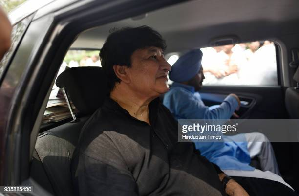 Haroon Yusuf former Minister of Food during the tenure of Congress Government in Delhi going after the protest against Delhi CM Arvind Kejriwal on...