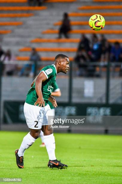 Harouna Sy of Red Star during the French Ligue 2 match between Red star and Lorient at Stade Pierre Brisson on September 14 2018 in Beauvais France