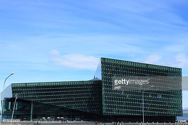 harpa concert hal, iceland - pejft stock pictures, royalty-free photos & images