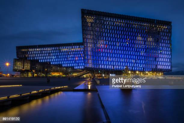 REYKJAVIK, ICELAND - APRIL 8, 2016 : Harpa Concert hall and conference centre in Reykjavik Iceland