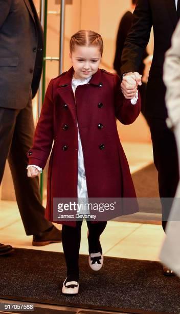 Harper Beckham seen on the streets of Manhattan on February 11 2018 in New York City