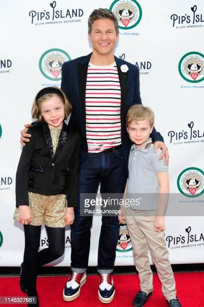 Harper BurtkaHarris David Burtka and Gideon BurtkaHarris attend Pip's Island Opening Night at Pip's Island on May 20 2019 in New York City