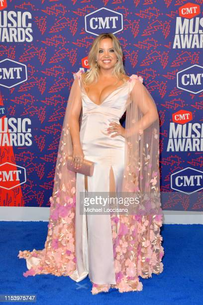 Harper Grae attends the 2019 CMT Music Awards Arrivals at Bridgestone Arena on June 05 2019 in Nashville Tennessee