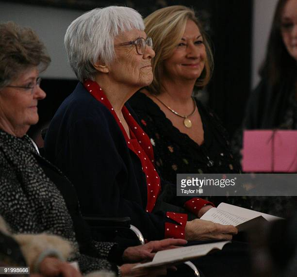 Harper Lee attends the 2009 Alabama Academy of Honor Inductions at the Old House Chambers on October 19, 2009 in Montgomery, Alabama.