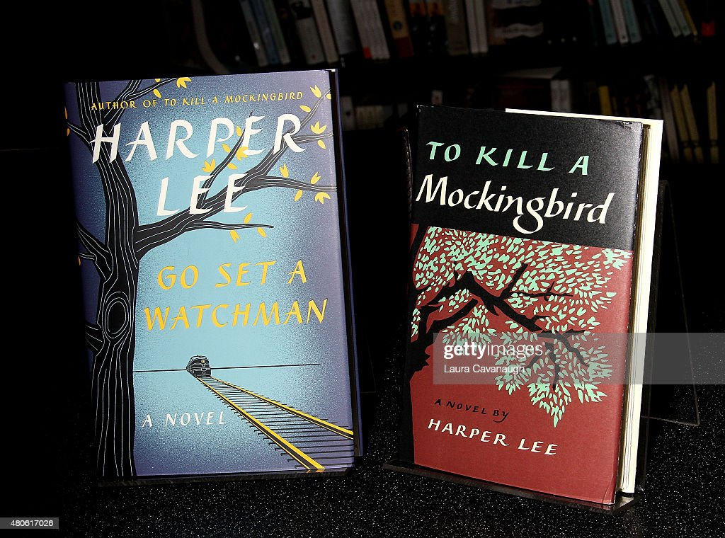 Harper Lee's 'Go Set a Watchman' book which is to be released on July 14, 2015 and Harper Lee's 'To Kill a Mockingbird' at Harper Lee celebration at Barnes & Noble Union Square on July 13, 2015 in New York City.
