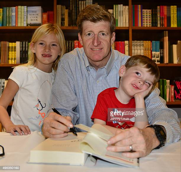 Harper Petitgout Patrick Kennedy and son Owen Kennedy sign copy of his book A Common Struggle A Personal Journey Throught The Past And Future Of...