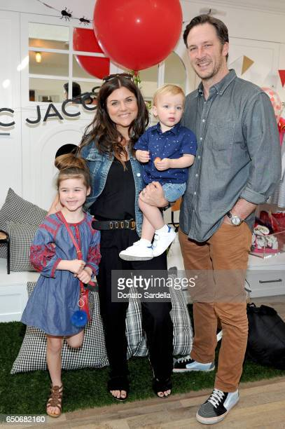 Harper Renn Smith actor Tiffani Thiessen Holt Fisher Smith and actor Brady Smith attend Little Marc Jacobs Celebration benefitting Baby2Baby on March...