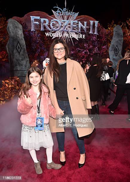 Harper Renn Smith and Tiffani Thiessen attend the world premiere of Disney's Frozen 2 at Hollywood's Dolby Theatre on Thursday November 7 2019 in...