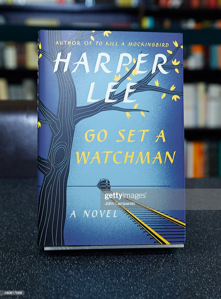 Harperl Lee's recently found edition of 'Go Set a Watchman' to be released on July 14 is exhibited during the Harper Lee Celebration: Wally Lamb and Leslie Uggams in conversation with Bill Goldstein at Barnes & Noble Union Square on July 13, 2015 in New York City.