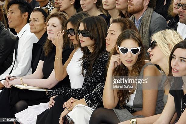 Harper's Bazaar editor in chief Glenda Bailey Victoria Beckham actress Katie Holmes Colombian heiress Tatiana Santo Domingo socialite Eugenia...