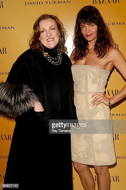 Harper's Bazaar EditorinChief Glenda Bailey and model Helena Christensen attend the Everywhere At Once screening presented by Harper's Bazaar at the...