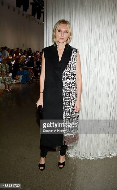 Harper's Bazaar Executive Director Laura Brown attends Edun front row during Spring 2016 New York Fashion Week at Spring Studios on September 13 2015...