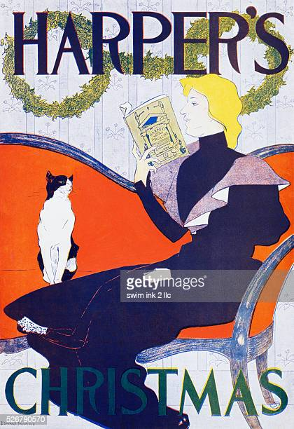 Harper's Christmas Poster by Edward Penfield