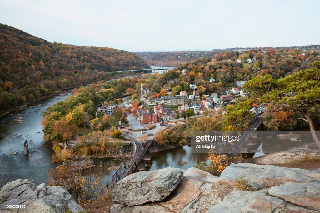 Harpers Ferry View from Maryland Heights : Stock Photo