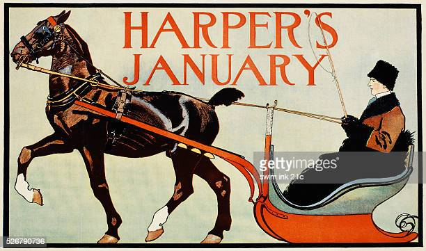 Harper's January Poster by Edward Penfield