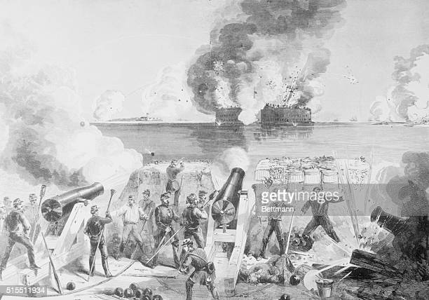 Harpers Pictorial History of the Civil War Bombardment of Fort Sumter by the Batteries of the Confederate States April 13 1861
